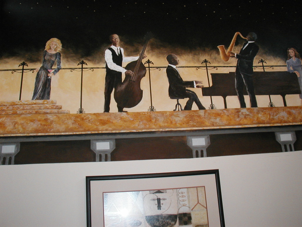 Mockingbird Restaurant - Jazz trio (partial on south wall)