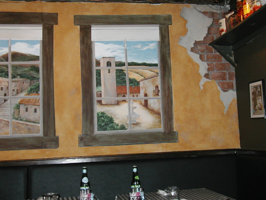 La Storia Trattoria - closeup with exposed brick