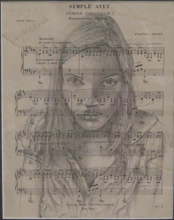 """Simple Aveu (Confession)""  10""x13"" Pencil"