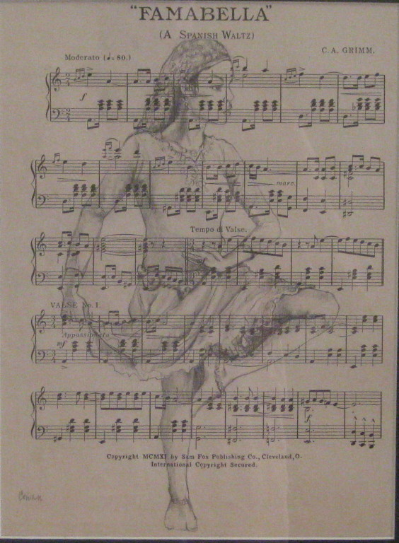 """Famabella"" (Spanish Waltz)""  10.5""x13"" Pencil"