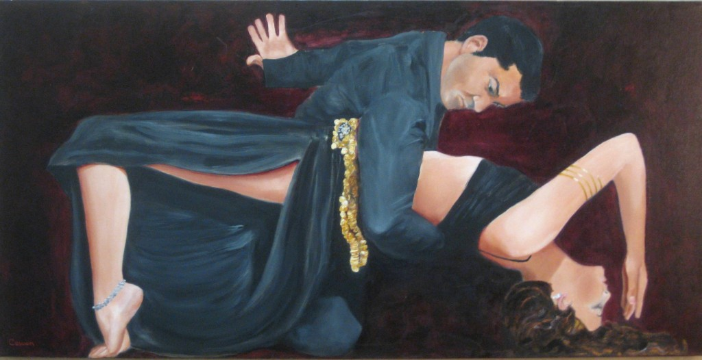 """Tango Fantasia""  18""x36""  Oil on canvas"