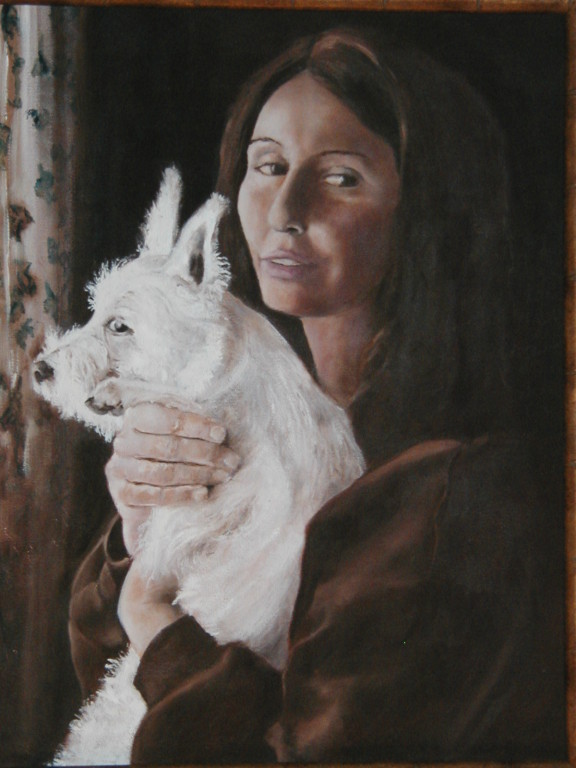 """Kathy and Alfie""    18""x24""      Oil on canvas     NFS"