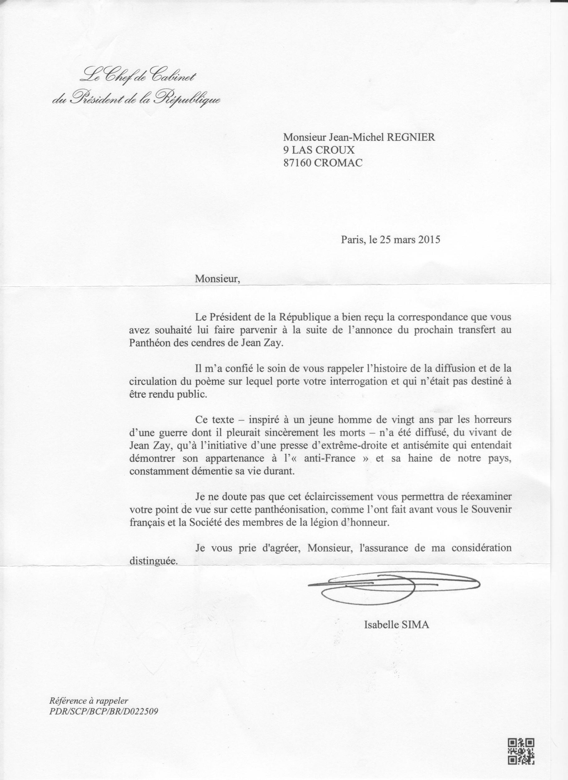 Lettres Ouvertes Au Président Site De Ré Information