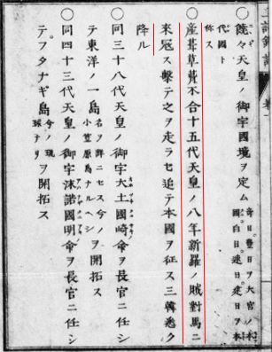『上記鈔訳』の地図に関する注釈