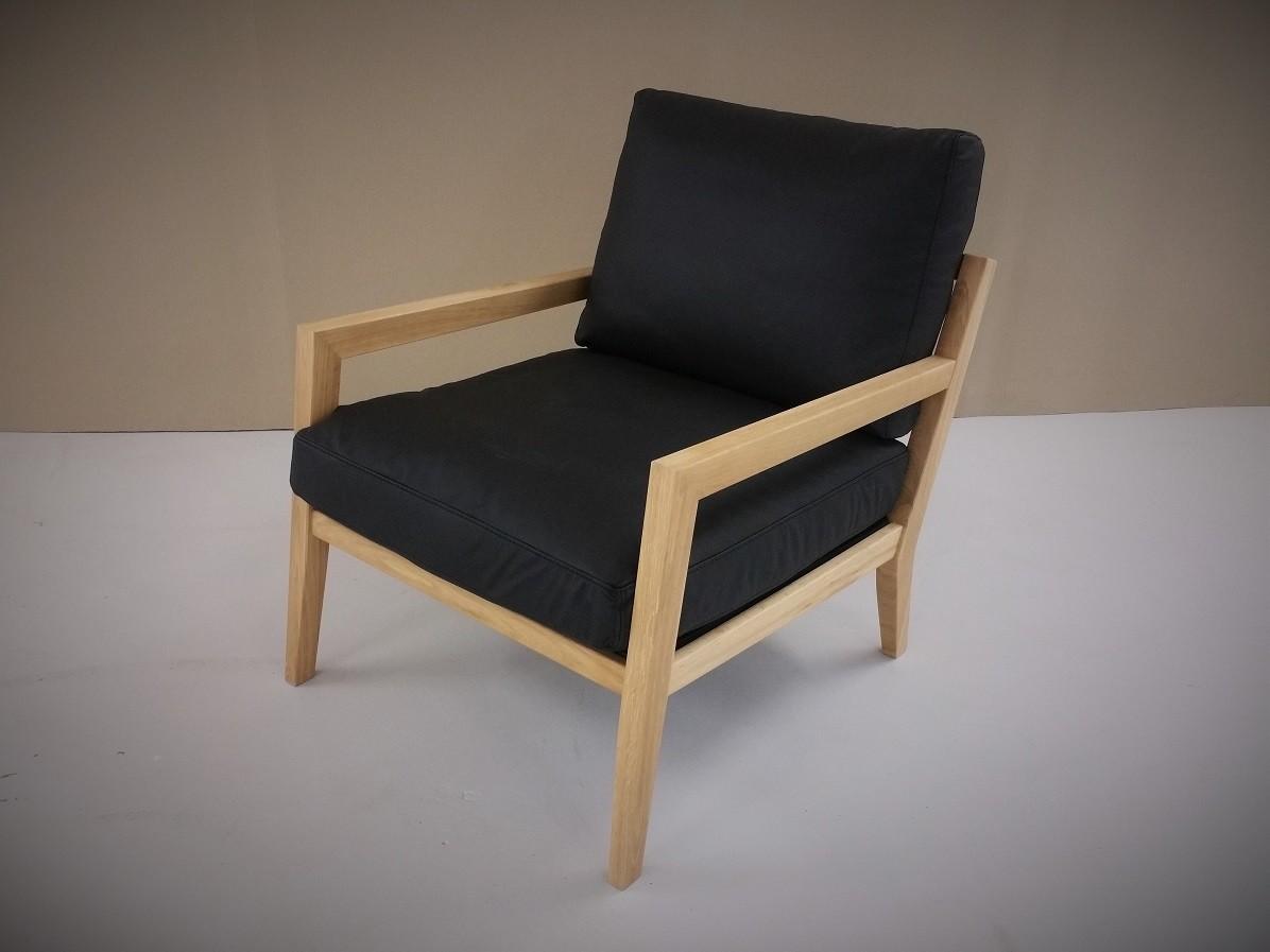 Sessel Holz und Leder