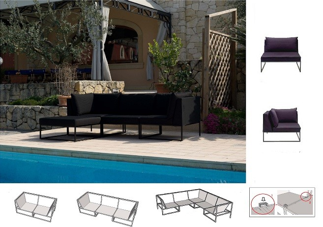Outdoor Lounge, Outdoor Sofa, Outdoor Sitzmöbel