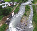 河川工事、鮎の情報