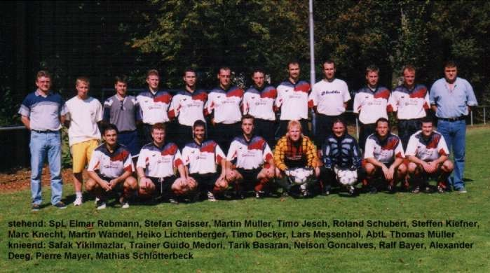 1. Mannschaft 1999/2000