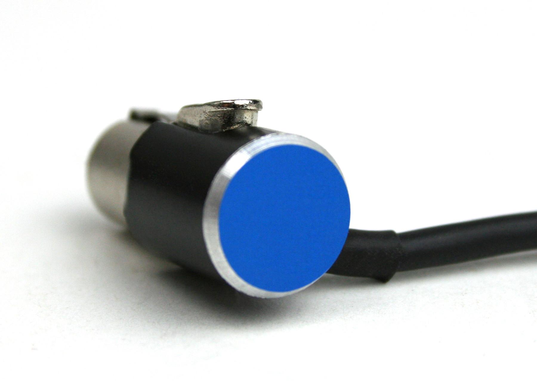 OPS-spezial Mini XLR (TA3) Winkelstecker blau