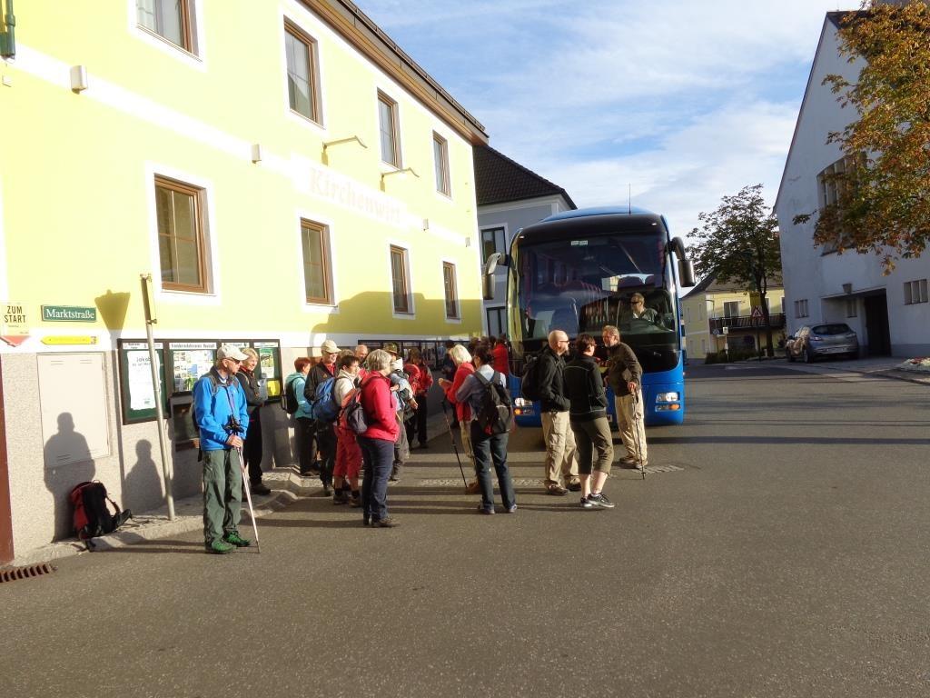 Ankunft in Neustadtl an der Donau
