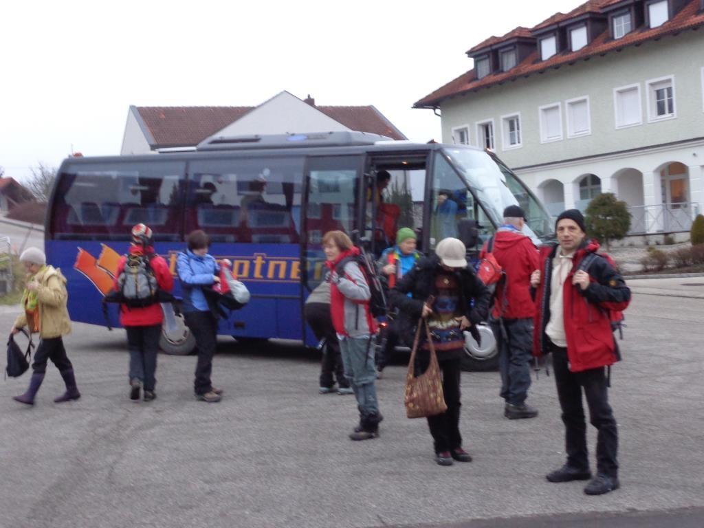Anreise mit dem Kleinbus