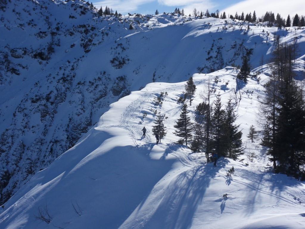 Blick zurück auf den Abstieg vom Hoch Kalmberg