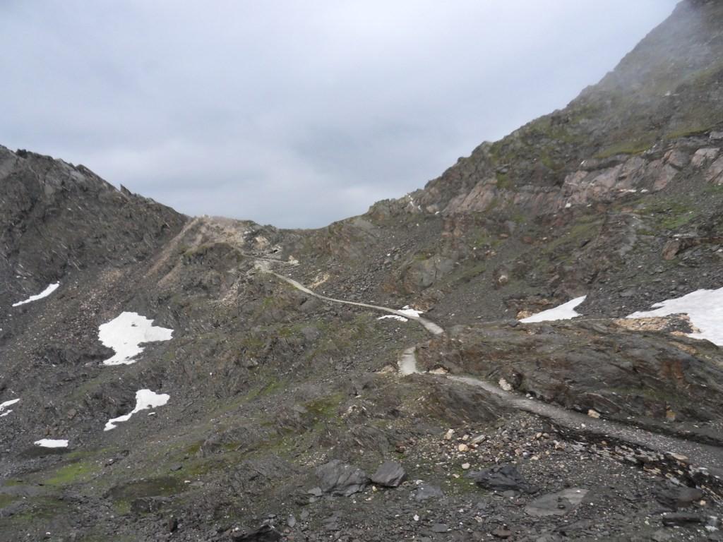 3.8.2012: von Stettinerhütte (2.875 m) Richtung Johannesscharte (2.876 m)
