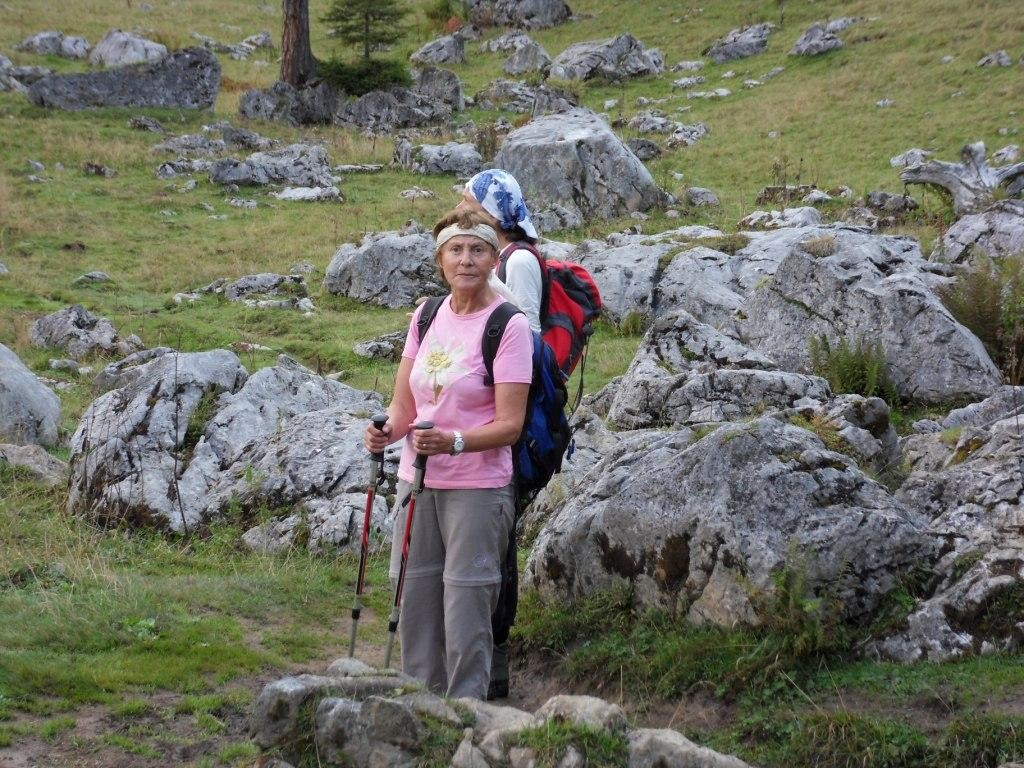 Kurze Pause auf dem Weg zur Hesshütte