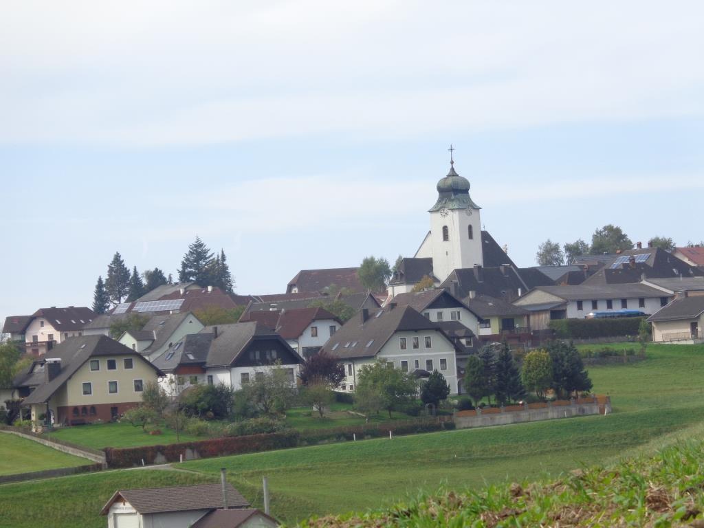 Blick vom Panoramastein auf Neustadtl an der Donau