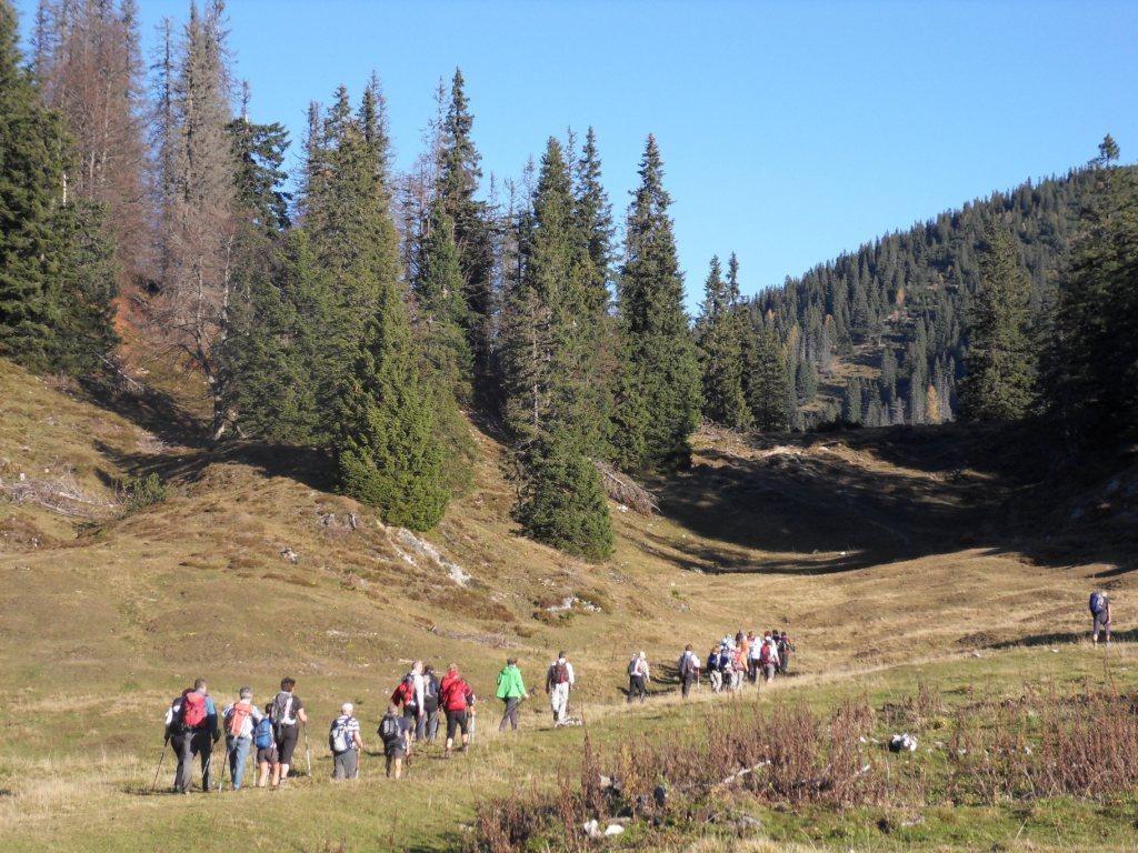 Wanderweg entlang des Almbodens
