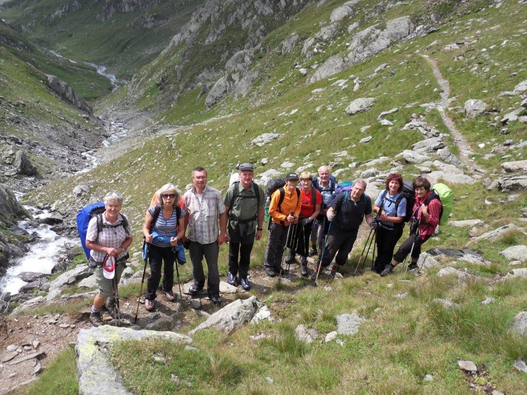 3.8.2012: Abstieg von Johannesscharte (2.876 m) zur Lodner Hütte (2.259 m)