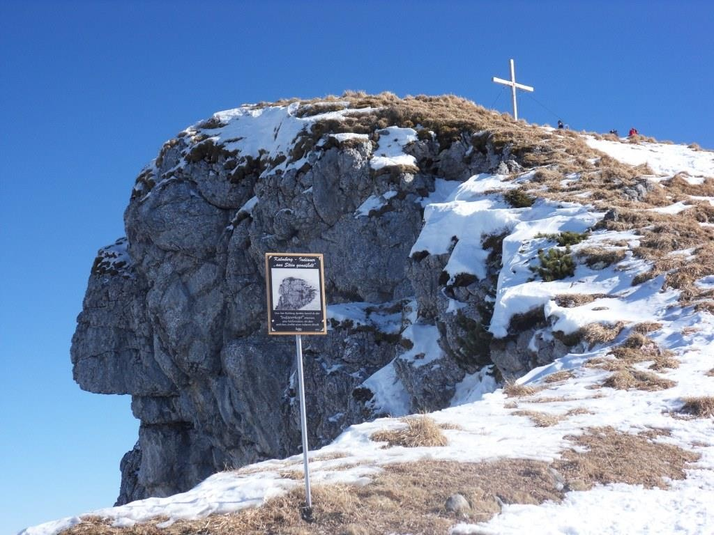 """Blick auf den """"Indianer"""" und auf den Hoch Kalmberg 1.833 m"""
