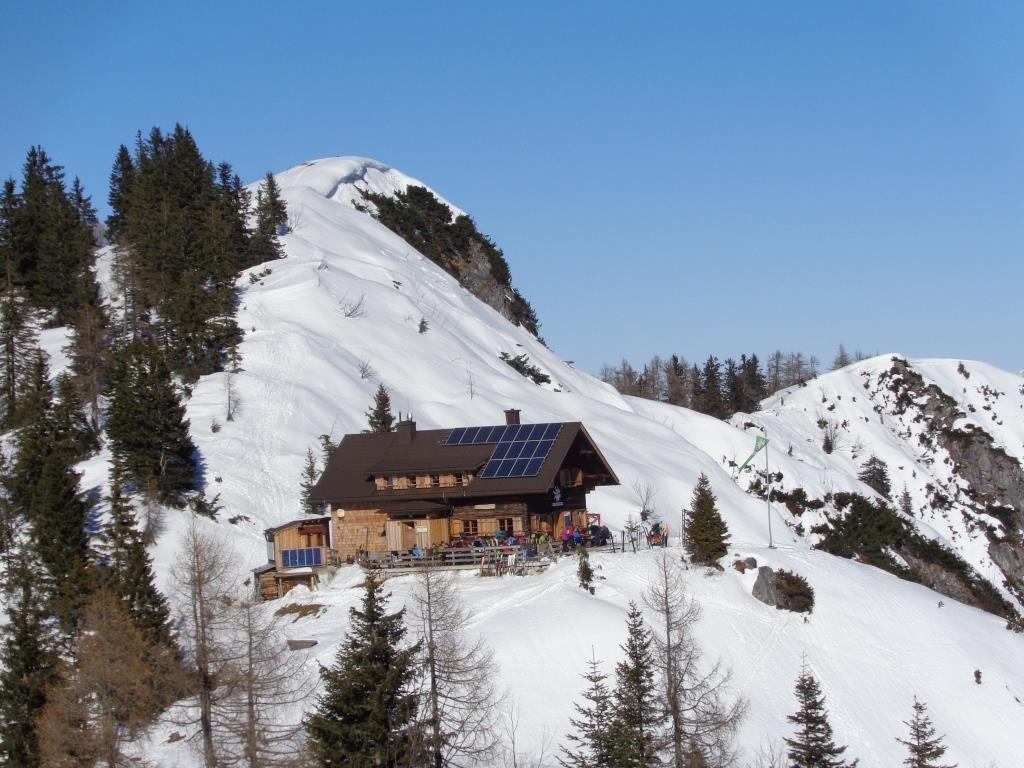 Goiserer Hütte wieder in Sicht - Einkehr
