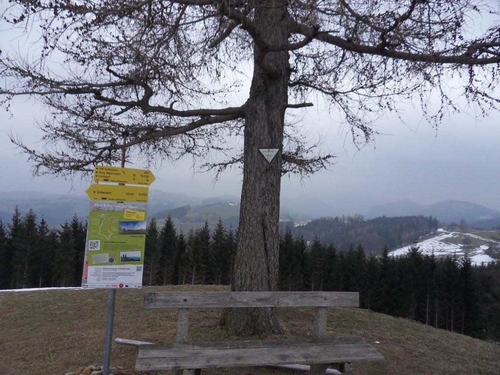höchster Punkt beim Grillparz (842 m)