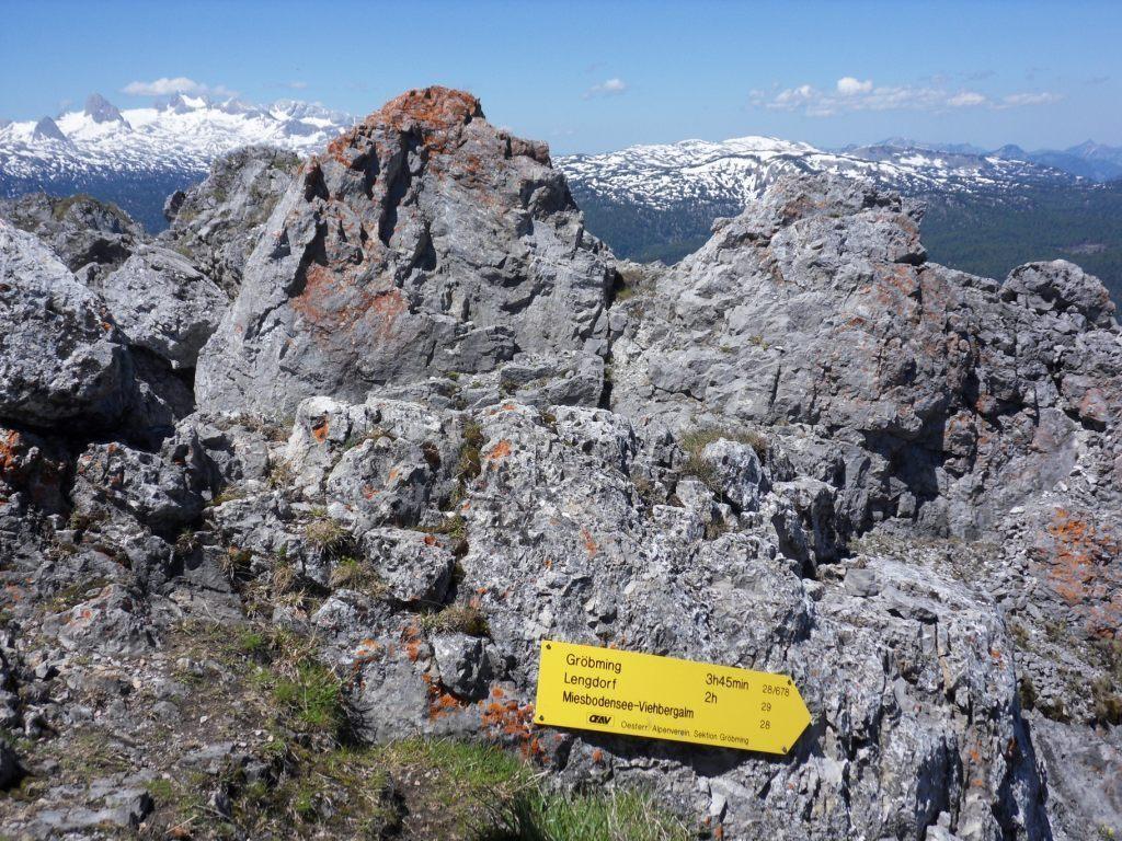 Wegzeiger am Gipfel