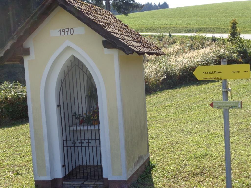 Kapelle am Rückweg nach Neustadtl an der Donau