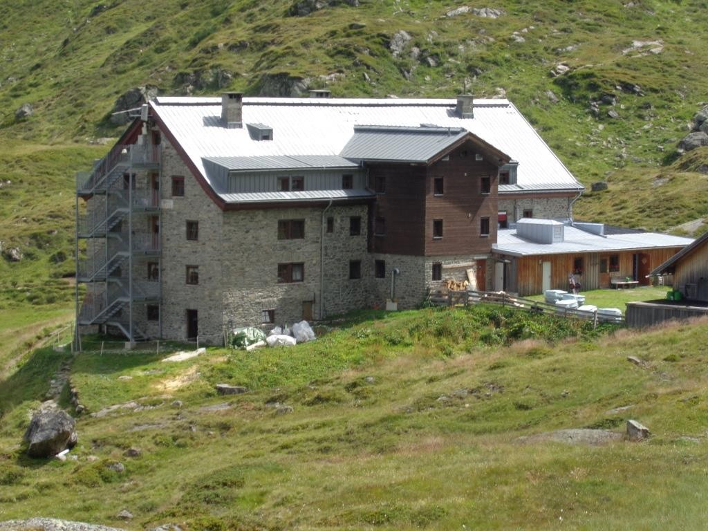 Ankunft Franz Senn Hütte (Nächtigung) 2.149 m