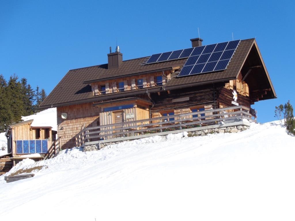 Blick auf die Goiserer Hütte 1.592 m