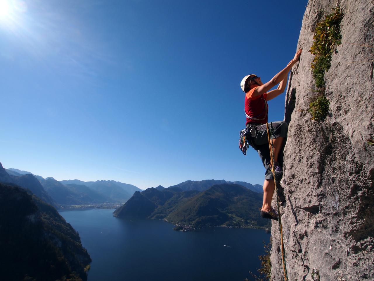"""""""Klettern am Traunstein"""" von Mag. Peter Sykora"""