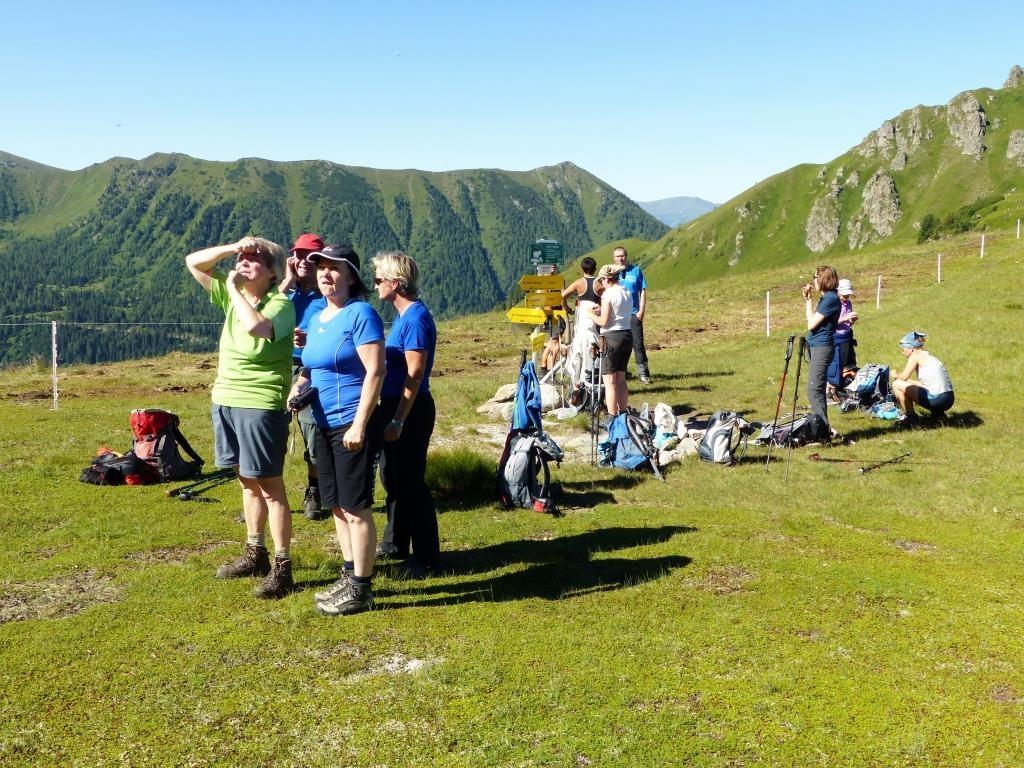 Trinkpause beim Triebener Törl 1.905 m