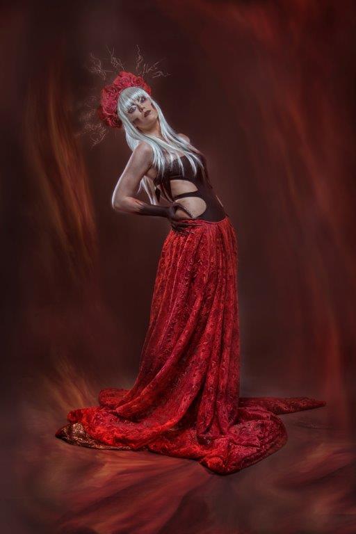 """Frau in Rot"" von Friedrich Fuchshuber"