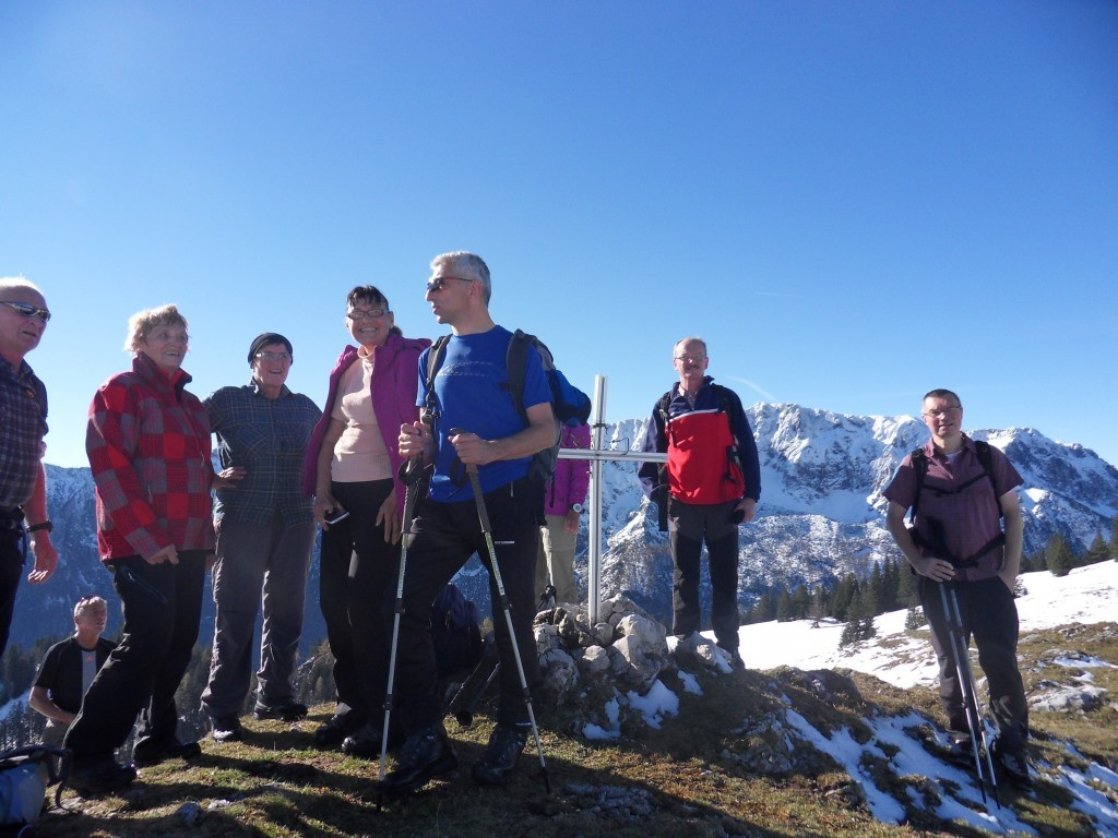Haderlauskögerl-Gipfel mit Teil der Wandergruppe