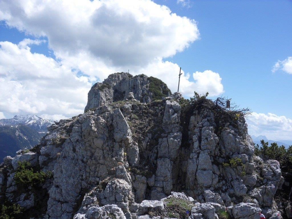Blick auf 1. Gipfel (Hechlstein)