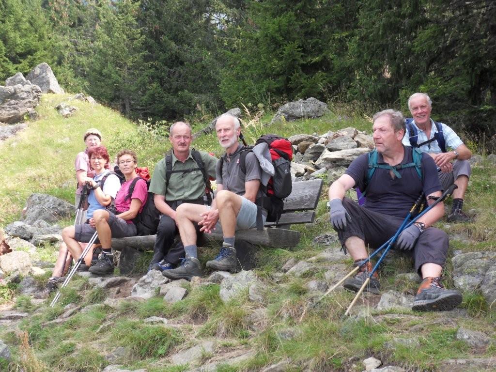 4.8.2012: Rast am Meraner Höhenweg bei der Hohen Wiege (1.809 m)