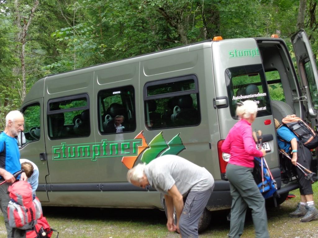 Anreise diesmal mit Kleinbus