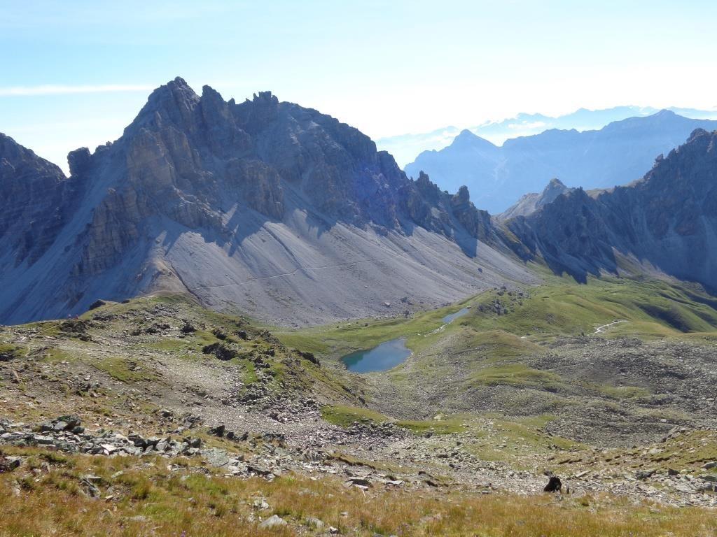 Rückblick auf Höhenweg kommend von Starkenburger Hütte