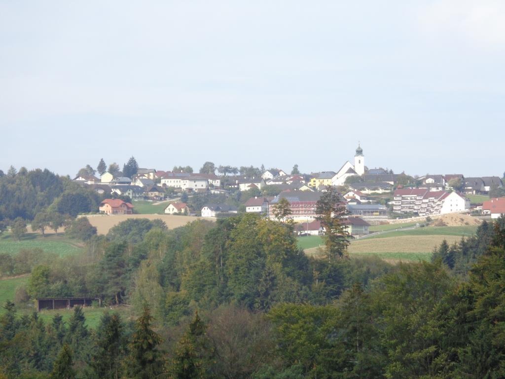 Blick zurück auf Neustadtl an der Donau