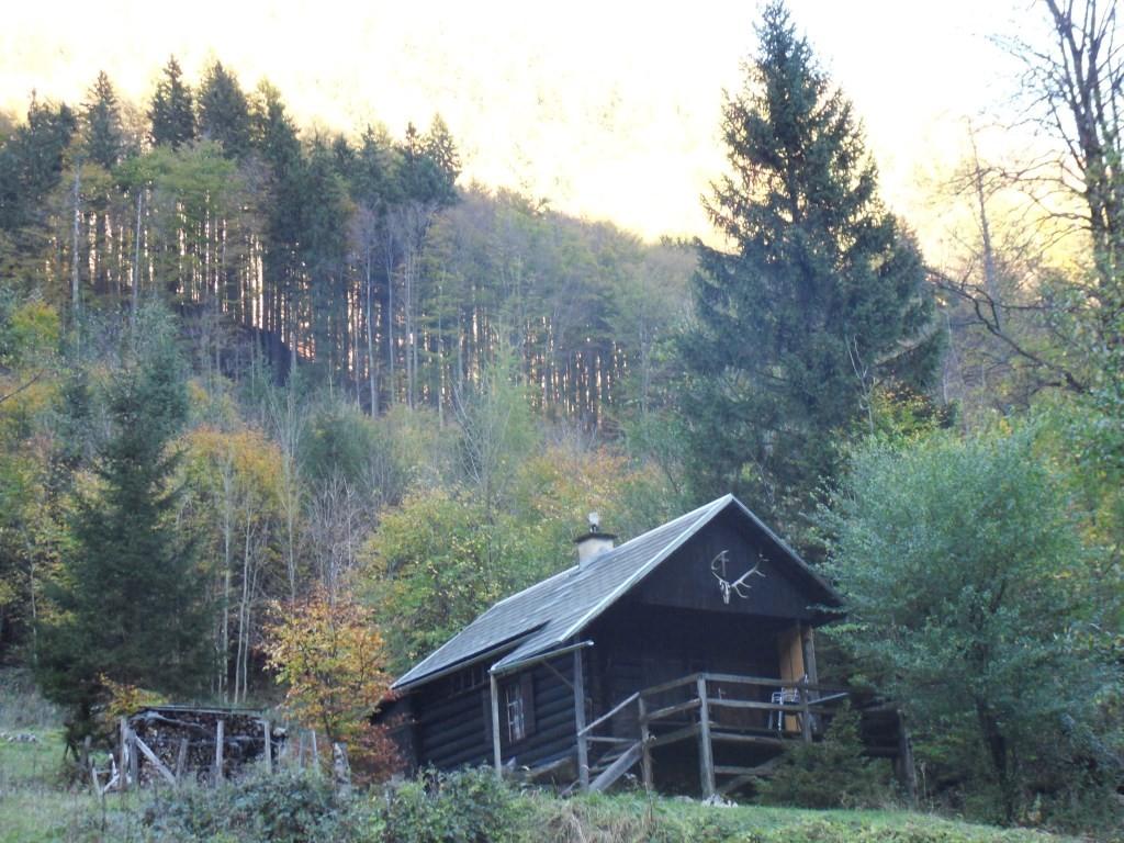 einsame Jagdhütte