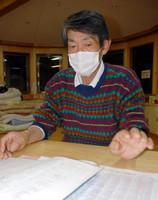 自分たちの手で仮設住宅用地の確保をした佐藤徳郎さん=宮城県登米市東和町で、中尾卓英撮影