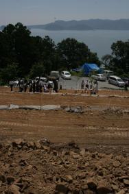 復興住宅の建設予定地=石巻市北上町十三浜