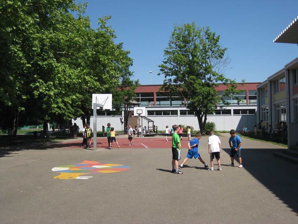 Pausenhof der Grundschule Ittlingen
