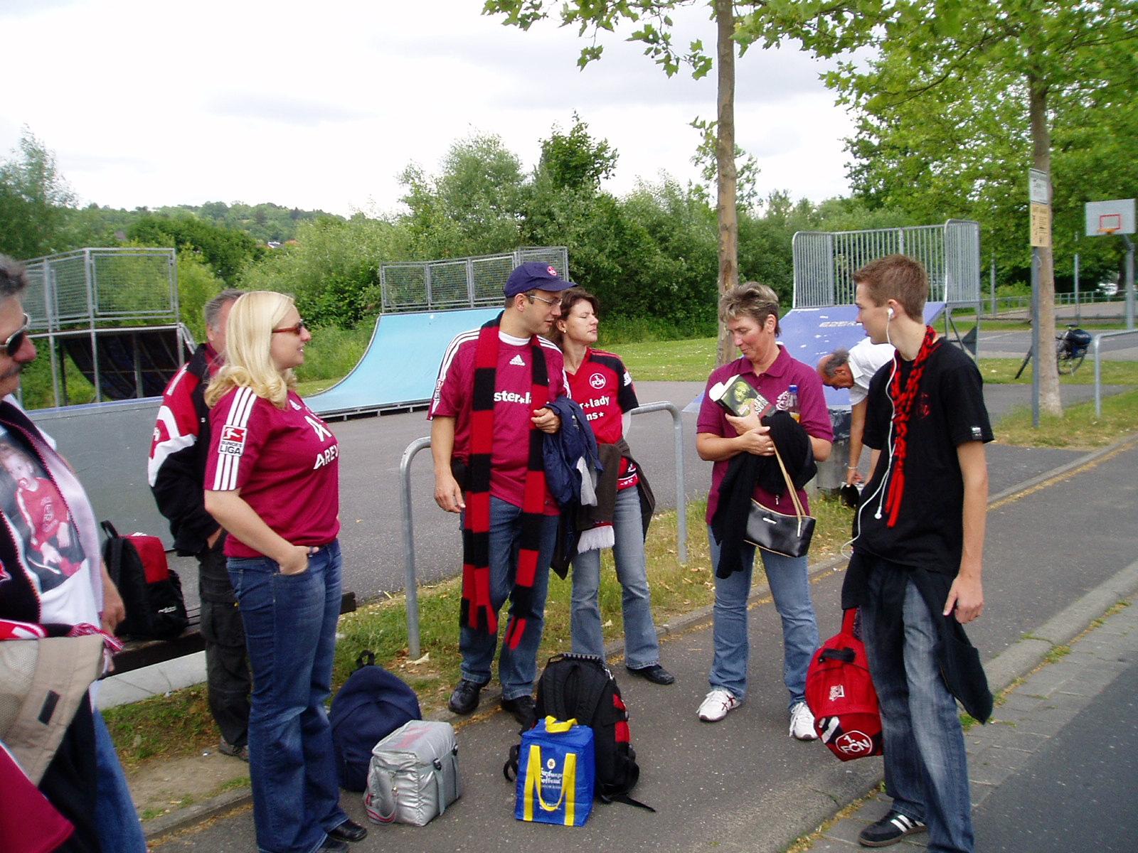 Busfahrt zum Relegationsspiel 1.FCN - Energie Cottbus am 31.05.2009. Wir sind in die 1. Bundesliga aufgestiegen!