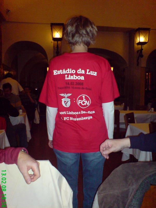UEFA-Cup Trip Benfica Lissabon - 1.FCN  am 21.02.2008  Ergebnis:  1:0