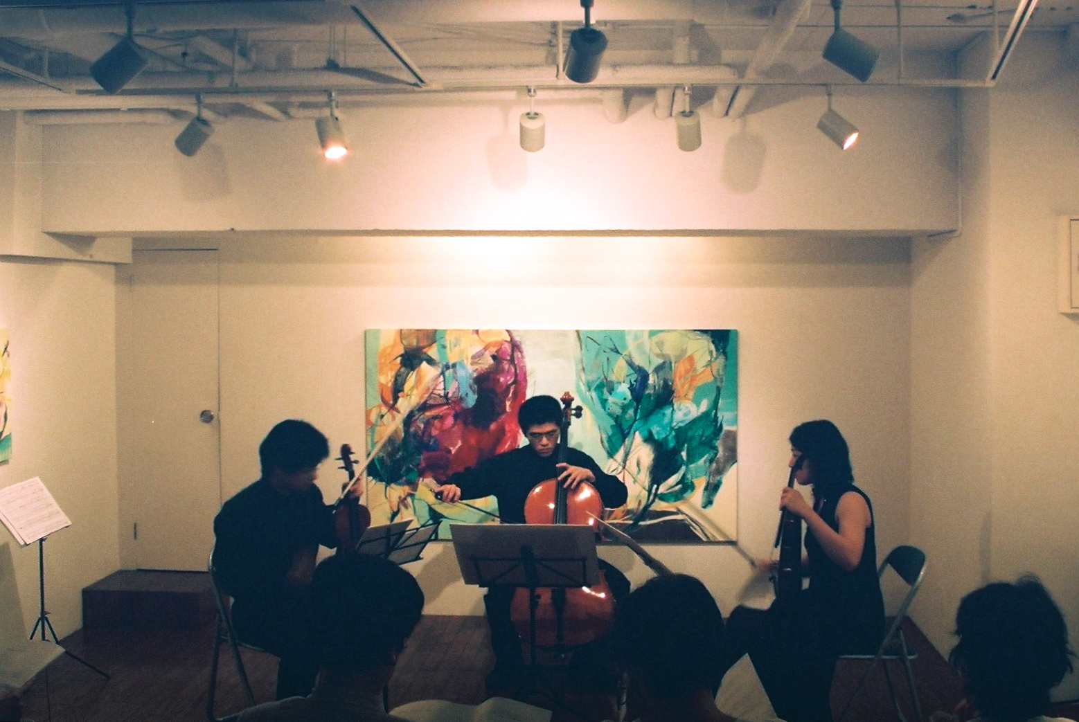 """Ensemble Bois Concert"" in ""Hiroko UEBA Solo Exhibition"" / Gallery Satoru, Tokyo"