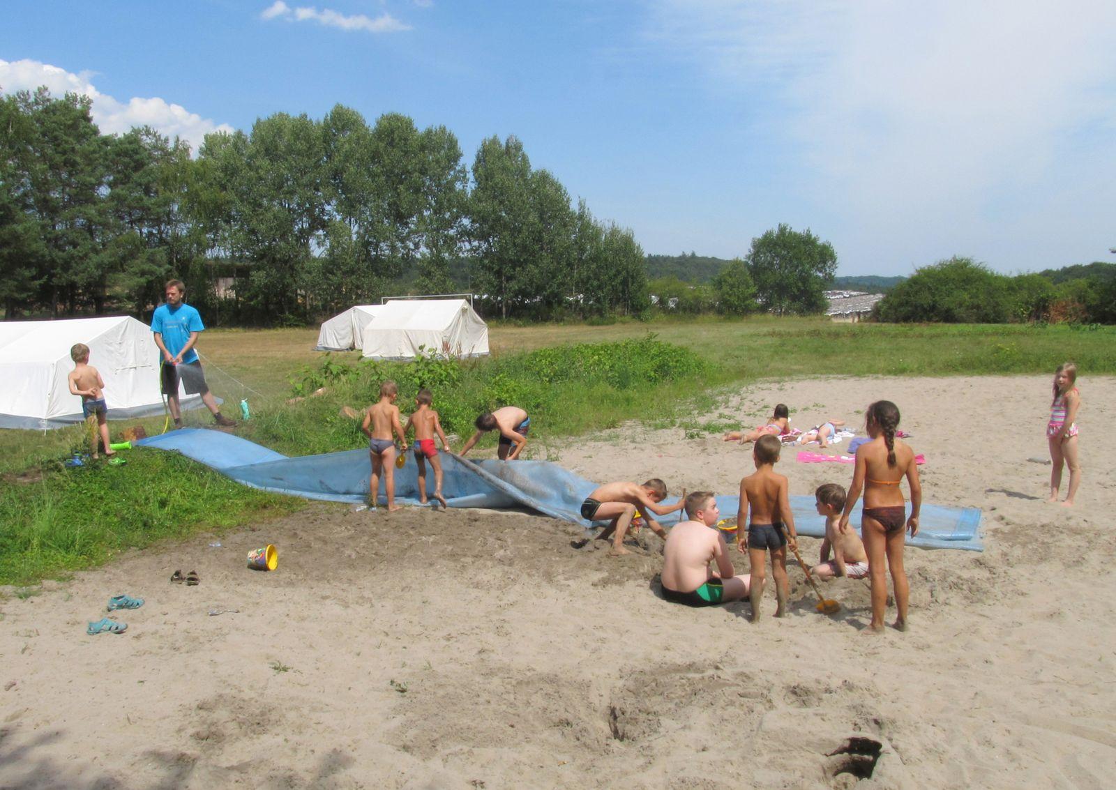TVO Zeltlager - Die Wasserrutsche