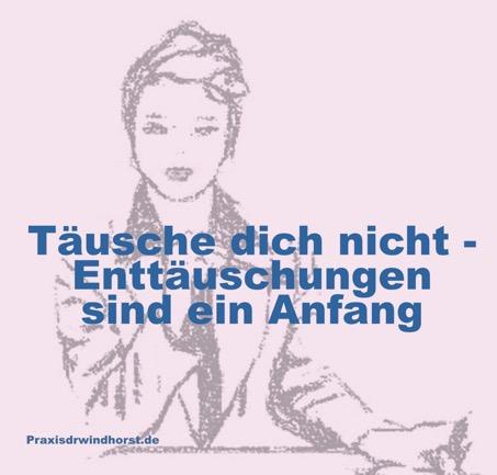 Ende der Enttäuschung. Menschen verändern. Paartherapie. Praxis für Psychotherapie Hannover Döhren Dr. Ariane Windhorst