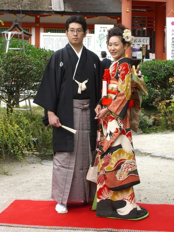 次男の婚礼・・・上賀茂神社 花嫁は母の婚礼衣装です。