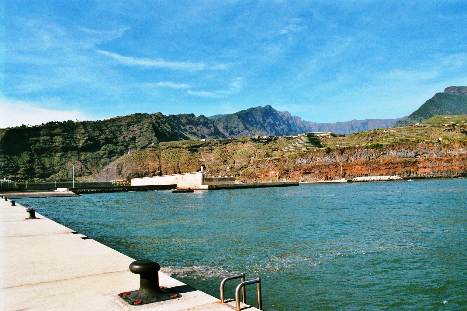 La Palma Kanarische Inseln Tazacorte Hafen Caldera de Taburiente