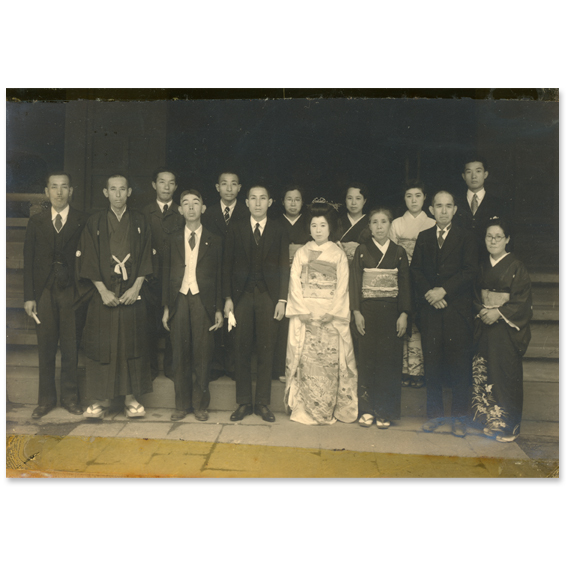 昭和初期の婚礼写真2