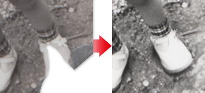 古い写真の修復例6 詳細例1